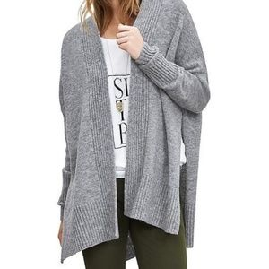 Banana Republic | Gray Side Slit Wool Cardigan